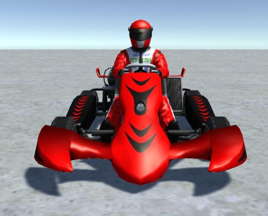 Low Poly Kart Z Graczem - 13 royalty-free 3d model - Preview no. 1