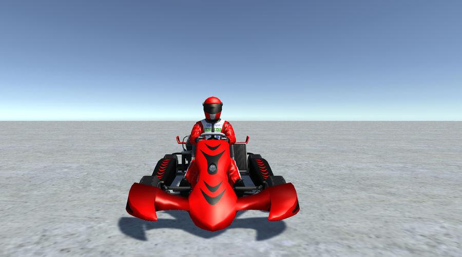 Low Poly Kart Z Graczem - 13 royalty-free 3d model - Preview no. 6