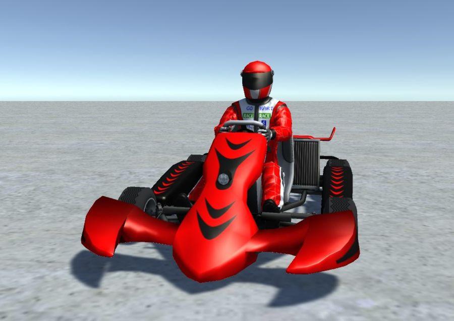 Low Poly Kart Z Graczem - 13 royalty-free 3d model - Preview no. 5