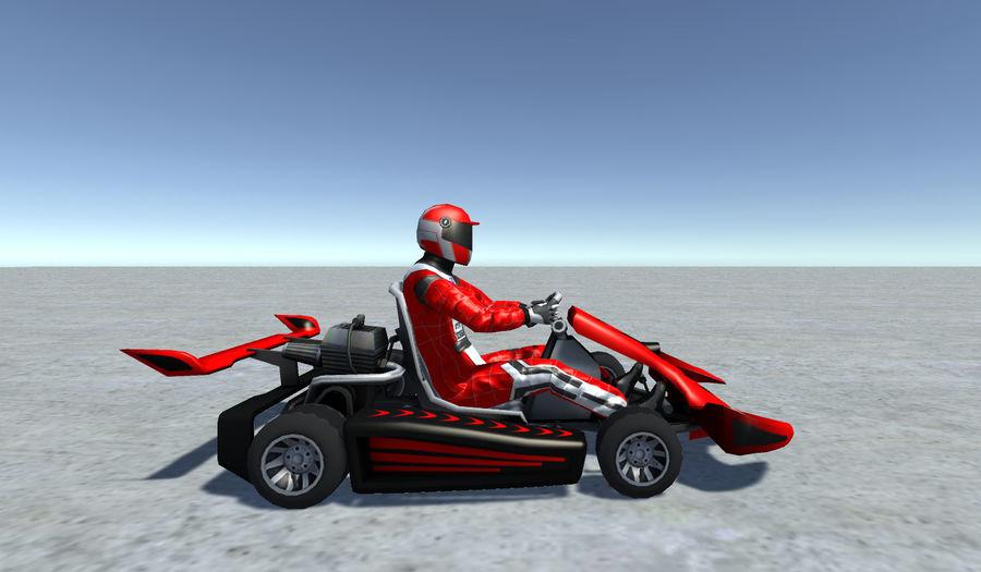 Low Poly Kart Z Graczem - 13 royalty-free 3d model - Preview no. 4
