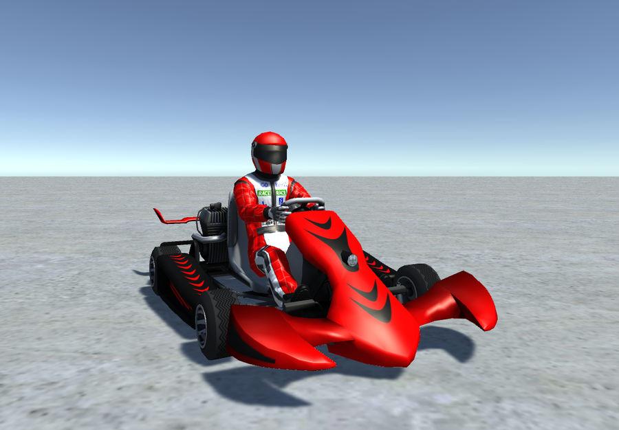 Low Poly Kart Z Graczem - 13 royalty-free 3d model - Preview no. 2