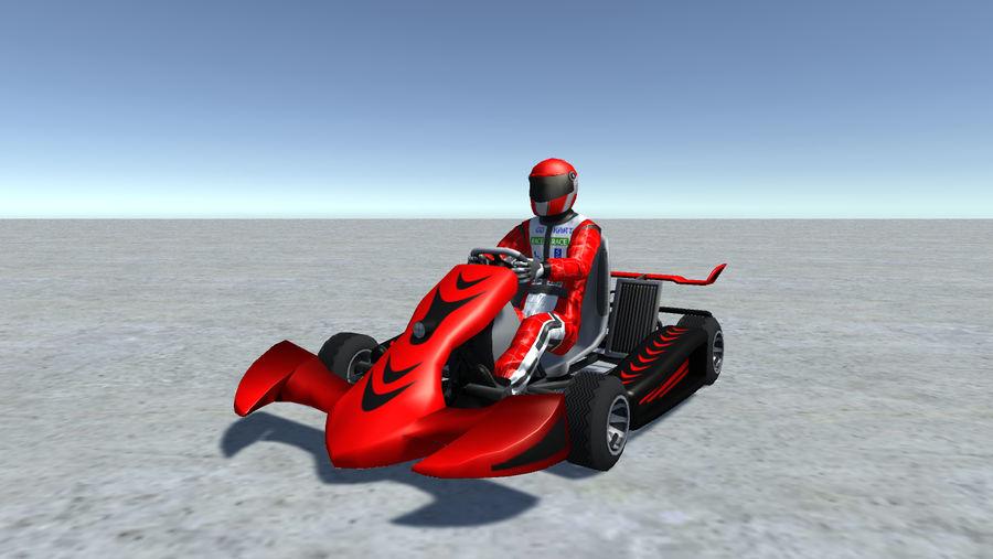 Low Poly Kart Z Graczem - 13 royalty-free 3d model - Preview no. 3