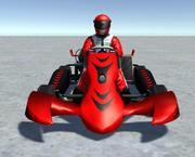 Low Poly Kart Z Graczem - 13 3d model