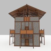 中世軍事前Outビル 3d model