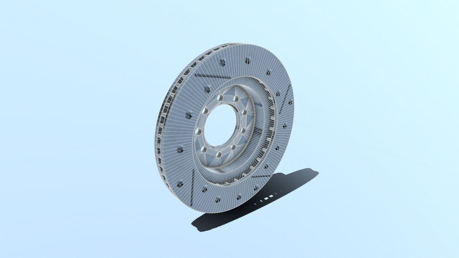 Brake disk old royalty-free 3d model - Preview no. 3