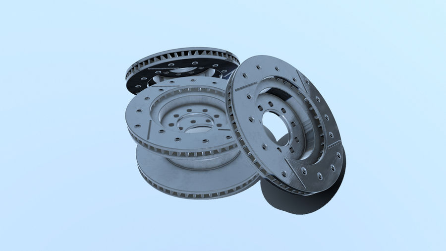 Disque de frein ancien royalty-free 3d model - Preview no. 9
