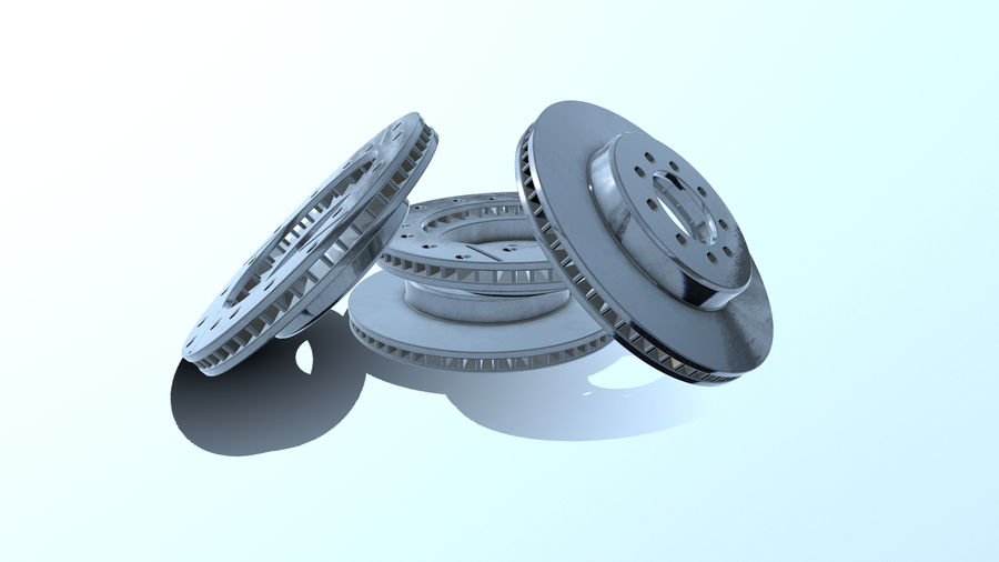 Brake disk old royalty-free 3d model - Preview no. 11