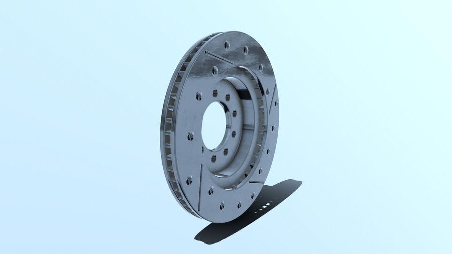 Brake disk old royalty-free 3d model - Preview no. 6