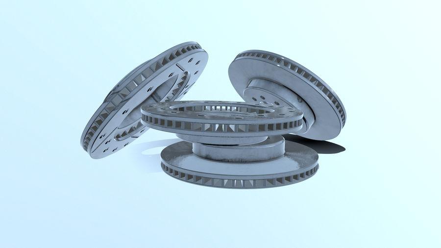Disque de frein ancien royalty-free 3d model - Preview no. 10