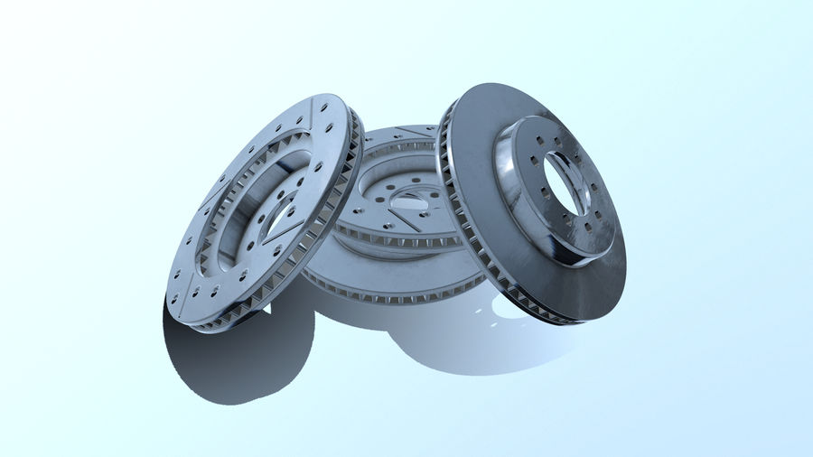 Brake disk old royalty-free 3d model - Preview no. 8