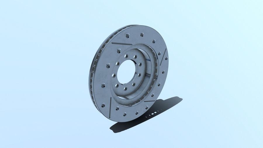 Brake disk old royalty-free 3d model - Preview no. 2