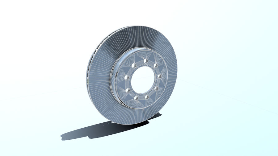 Brake disk old royalty-free 3d model - Preview no. 5