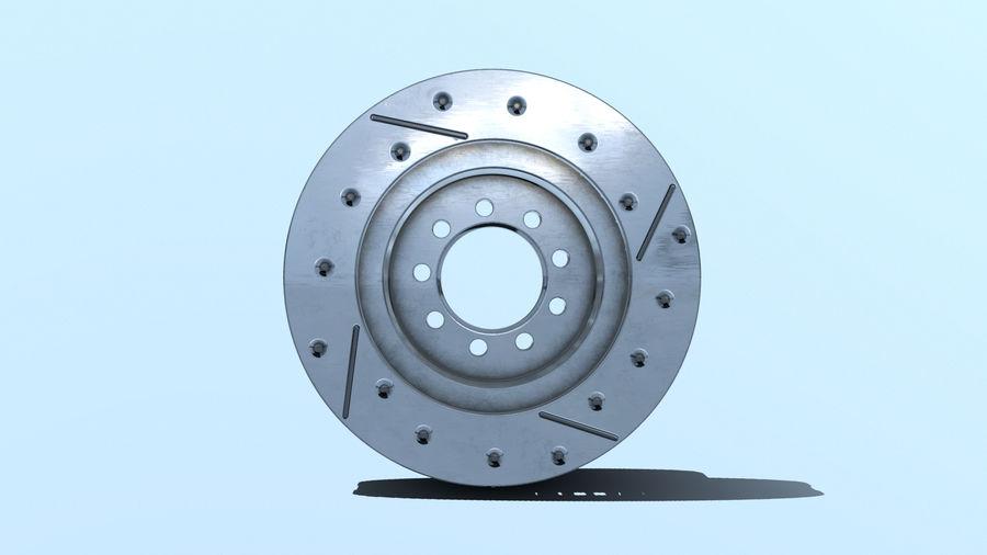 Brake disk old royalty-free 3d model - Preview no. 7