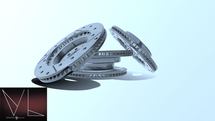 Disque de frein ancien royalty-free 3d model - Preview no. 1