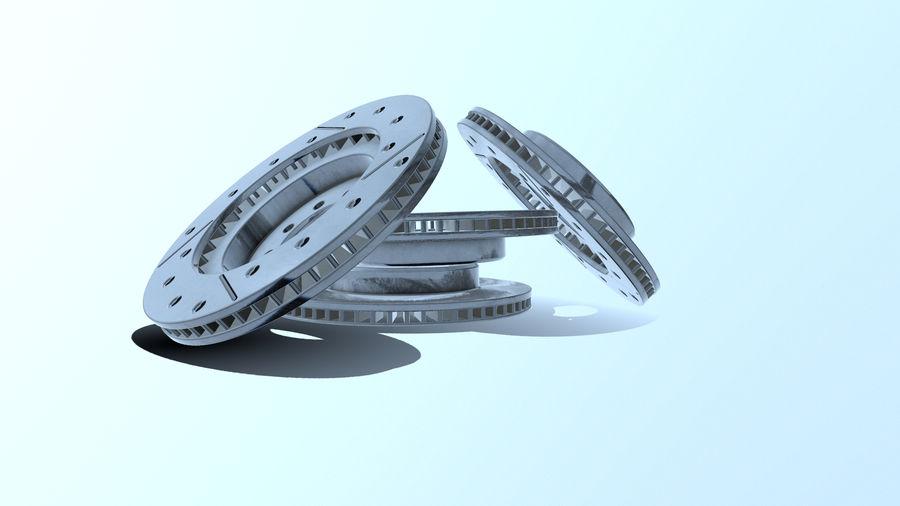 Disque de frein ancien royalty-free 3d model - Preview no. 12