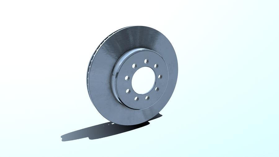 Brake disk old royalty-free 3d model - Preview no. 4