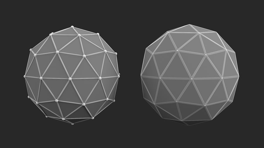 IcoSphere royalty-free 3d model - Preview no. 7