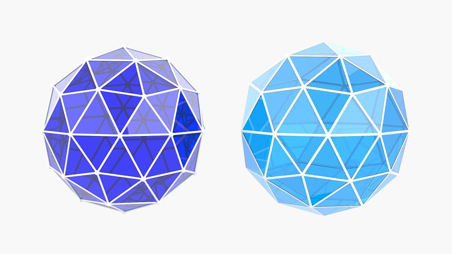 IcoSphere royalty-free 3d model - Preview no. 4