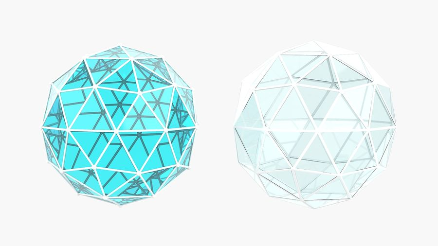 IcoSphere royalty-free 3d model - Preview no. 3