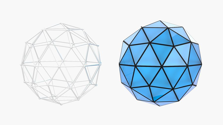 IcoSphere royalty-free 3d model - Preview no. 1