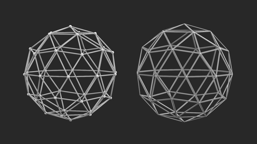 IcoSphere royalty-free 3d model - Preview no. 8
