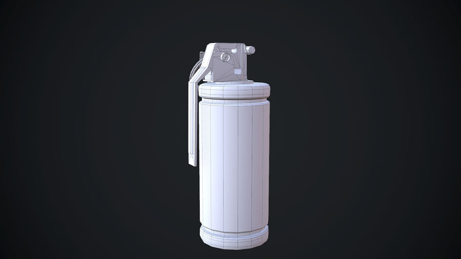granata AN / M8 royalty-free 3d model - Preview no. 11