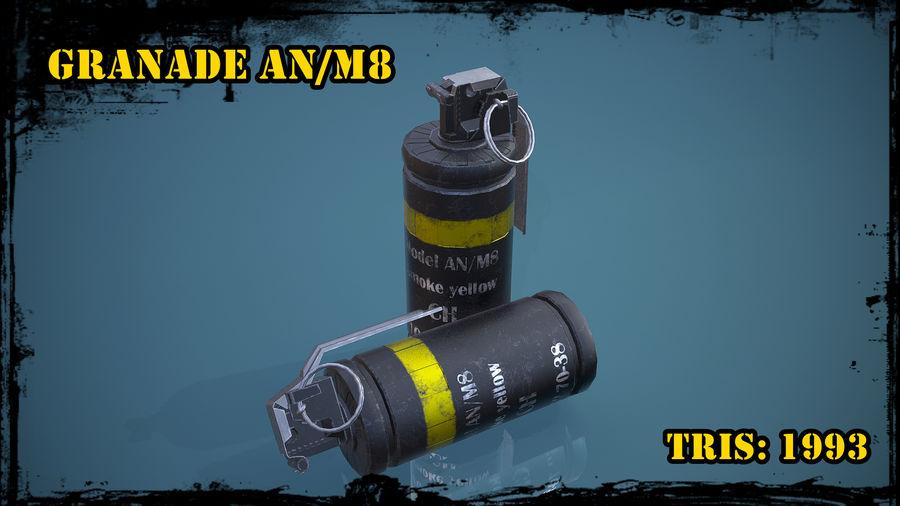 granata AN / M8 royalty-free 3d model - Preview no. 1