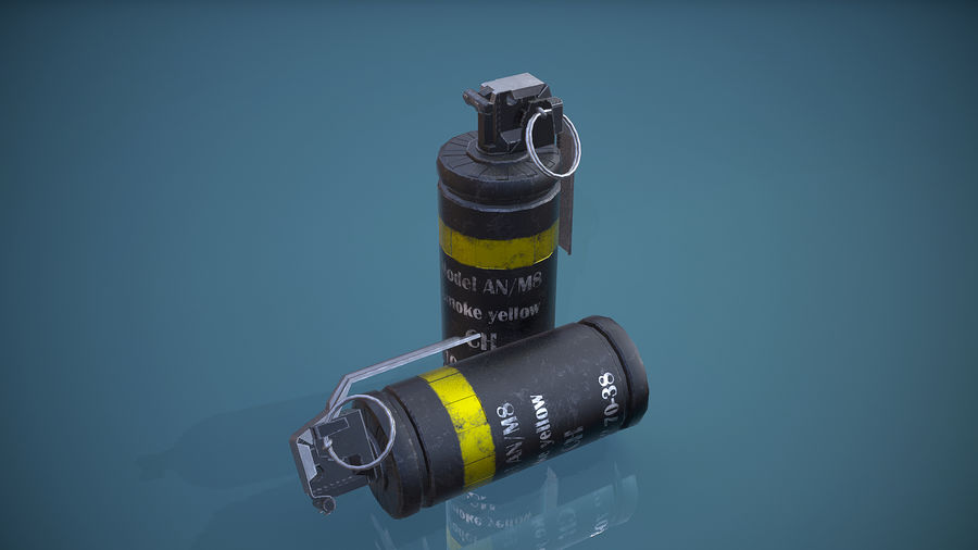 granata AN / M8 royalty-free 3d model - Preview no. 8