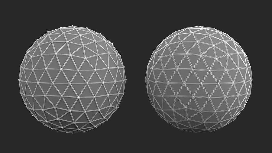 sfera ico media royalty-free 3d model - Preview no. 4