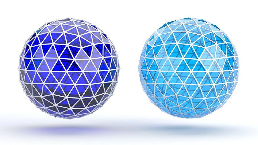 sfera ico media royalty-free 3d model - Preview no. 2