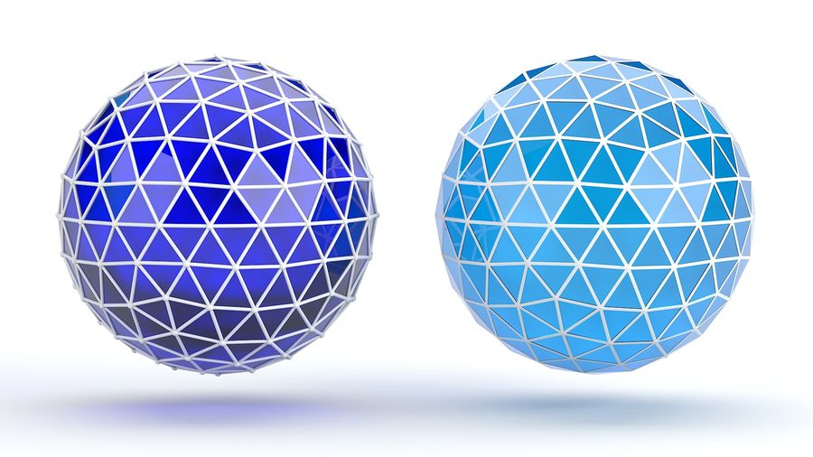 sfera ico media royalty-free 3d model - Preview no. 1