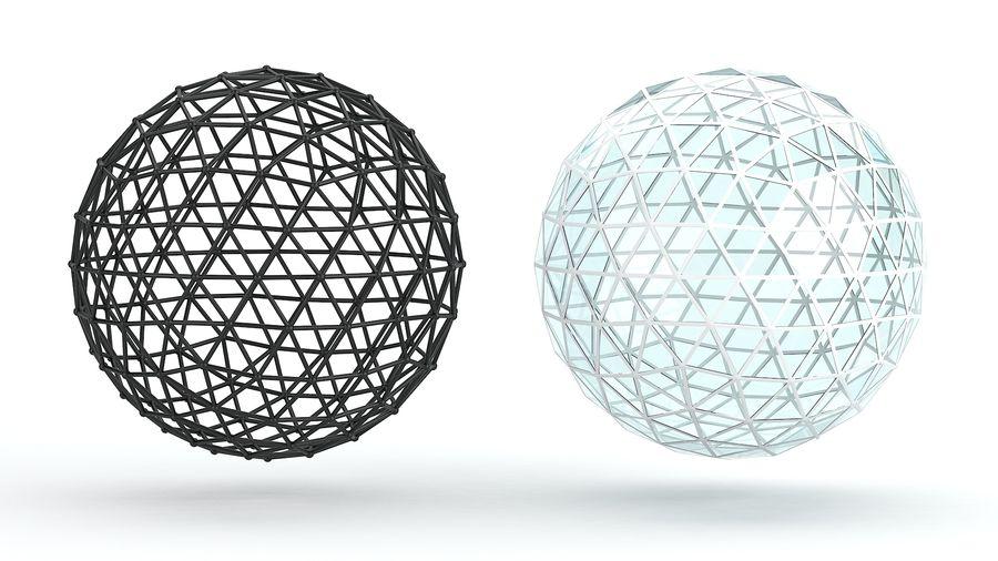 sfera ico media royalty-free 3d model - Preview no. 3