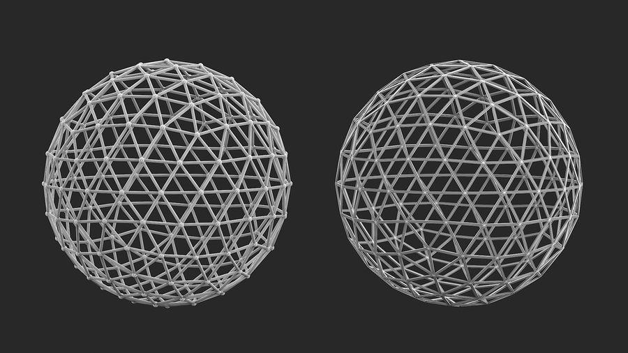 sfera ico media royalty-free 3d model - Preview no. 5