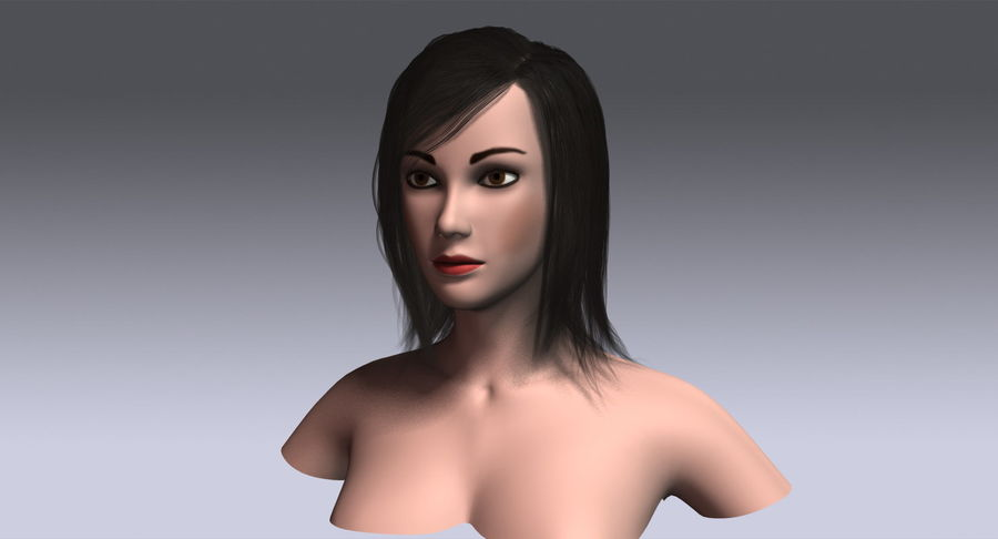 Hair Cards 11 royalty-free 3d model - Preview no. 3