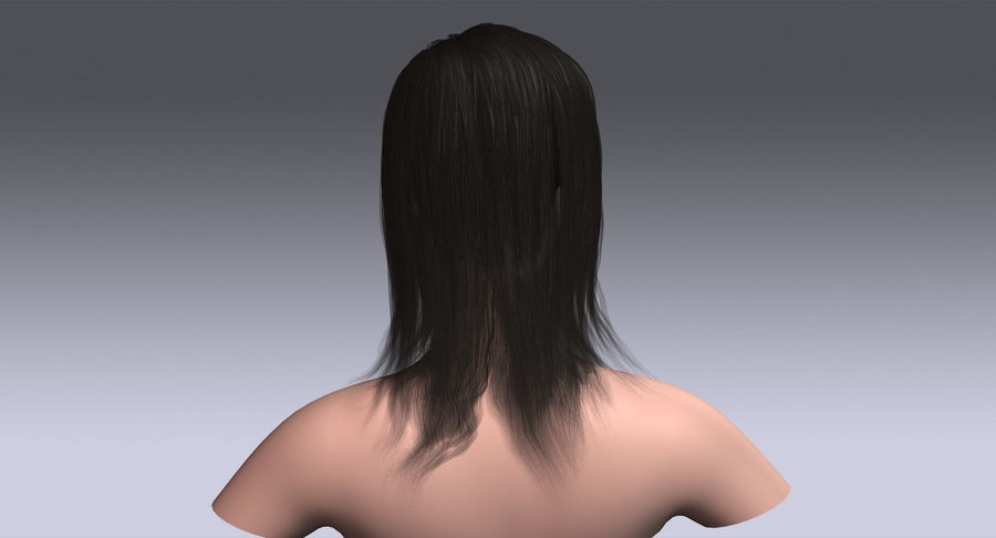 Hair Cards 11 royalty-free 3d model - Preview no. 8