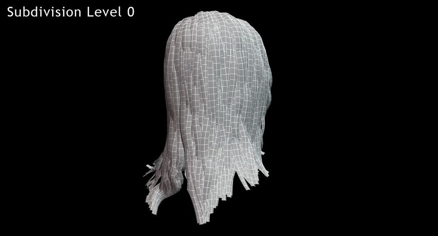 Hair Cards 11 royalty-free 3d model - Preview no. 19