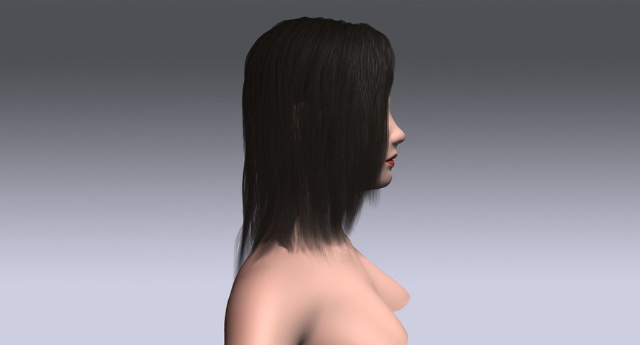 Hair Cards 11 royalty-free 3d model - Preview no. 6