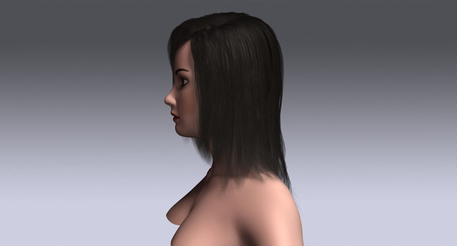 Hair Cards 11 royalty-free 3d model - Preview no. 10