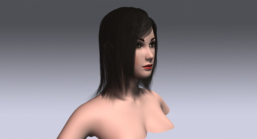 Hair Cards 11 royalty-free 3d model - Preview no. 5