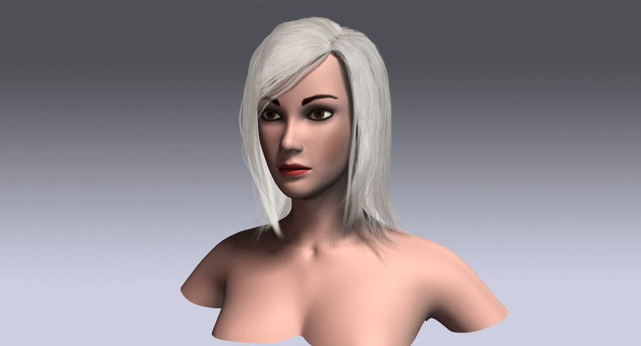 Hair Cards 11 royalty-free 3d model - Preview no. 15