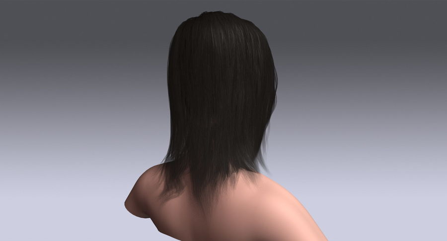 Hair Cards 11 royalty-free 3d model - Preview no. 7