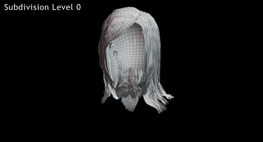 Hair Cards 11 royalty-free 3d model - Preview no. 18