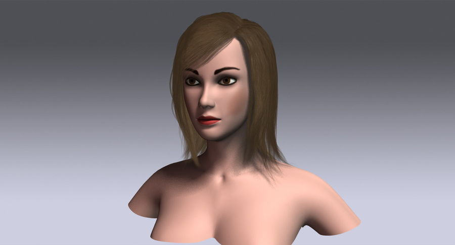 Hair Cards 11 royalty-free 3d model - Preview no. 14