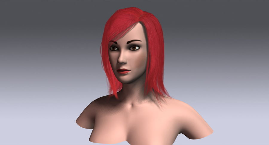 Hair Cards 11 royalty-free 3d model - Preview no. 17