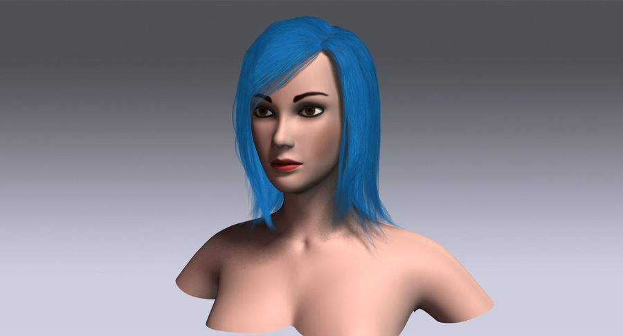 Hair Cards 11 royalty-free 3d model - Preview no. 16