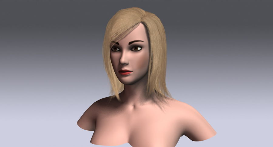 Hair Cards 11 royalty-free 3d model - Preview no. 13
