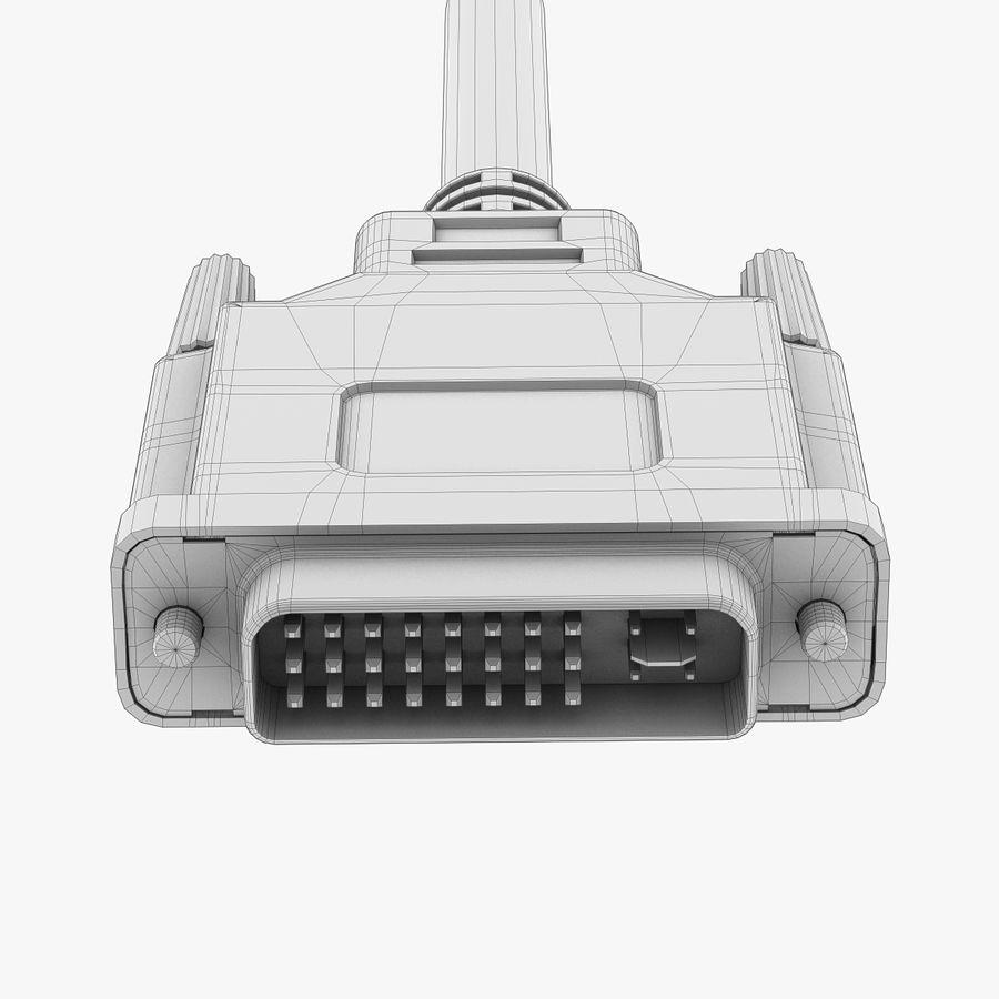 Plugue DVI royalty-free 3d model - Preview no. 7