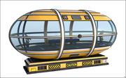 Sci-Fi Capsule Cabine 3d model