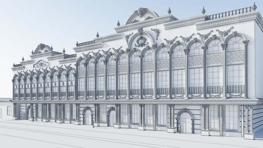 Classic Building royalty-free 3d model - Preview no. 4