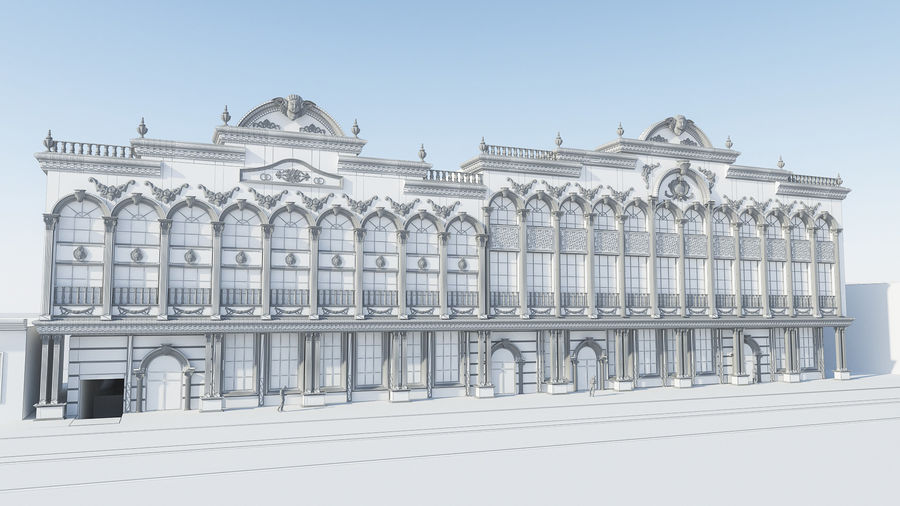 Arquitectura Edificio Clásico royalty-free modelo 3d - Preview no. 5